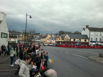 The excitement grows as does the crowd. But which will arrive first, The Parade or The Storm?